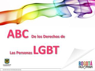 ABC De los Derechos de Las Personas LGBT