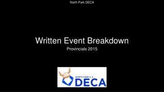Written Event Breakdown