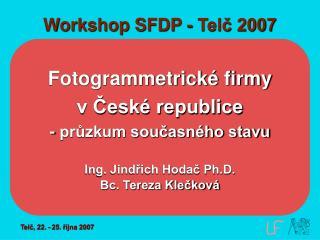 Workshop SFDP - Telč 2007