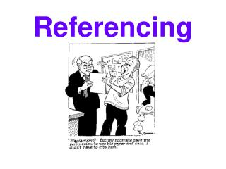 Referencing