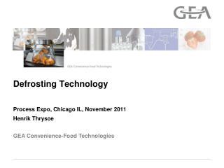 Defrosting Technology