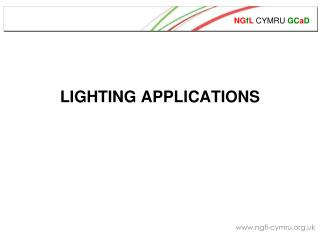 LIGHTING APPLICATIONS