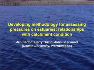 Jan Barton, Gerry Quinn, John Sherwood ( Deakin University, Warrnambool )