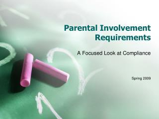 Parental Involvement Requirements