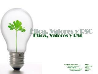 Ética, Valores y RSC