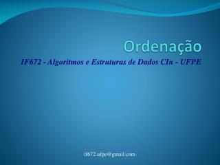 Ordenação