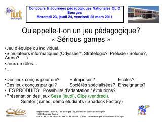 Qu'appelle-t-on un jeu pédagogique? «Sérious games»
