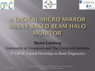 A Digital Micro-mirror array-based beam halo monitor