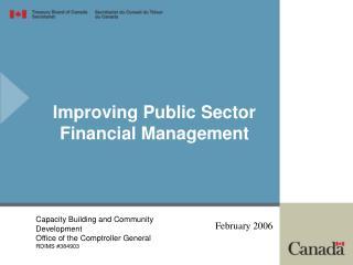 Improving Public Sector Financial Management