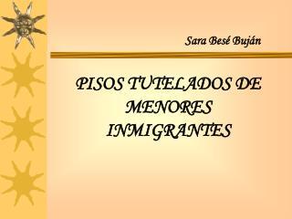 PISOS TUTELADOS DE MENORES INMIGRANTES