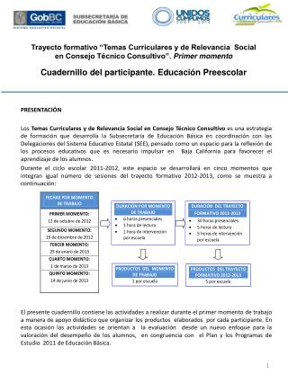 """Trayecto formativo """"Temas Curriculares y de Relevancia Social"""