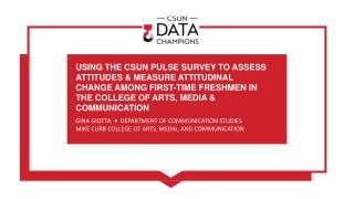 GINA GIOTTA • DEPARTMENT OF COMMUNICATION STUDIES