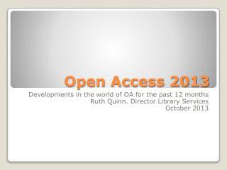 Open Access 2013