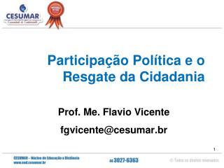 Participação Política e o Resgate da Cidadania