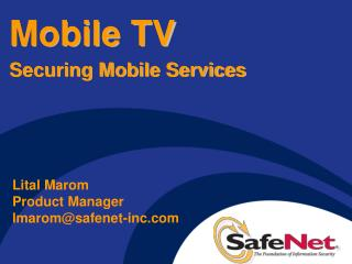 Mobile TV Securing Mobile Services