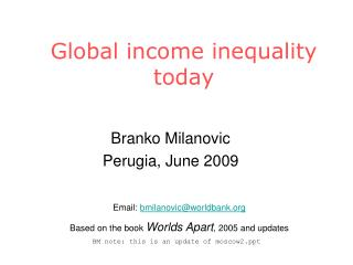 Global income inequality today