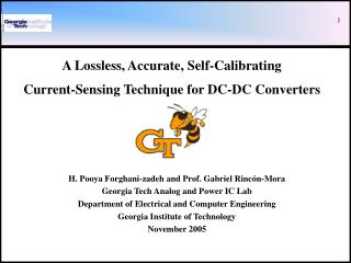 A Lossless, Accurate, Self-Calibrating Current-Sensing Technique for DC-DC Converters