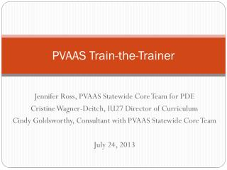 PVAAS Train-the-Trainer