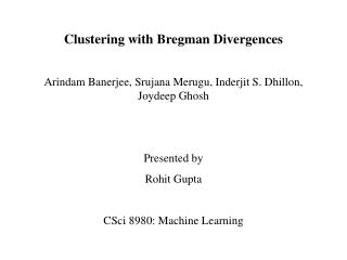 Clustering with Bregman Divergences