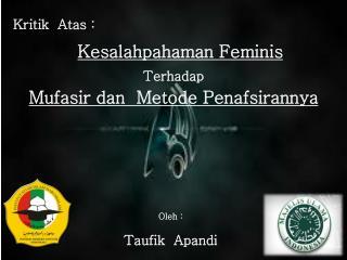 Kesalahpahaman Feminis