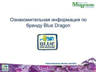 Ознакомительная информация по бренду Blue Dragon