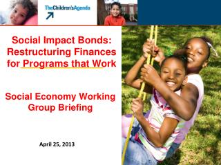 Social Economy Working Group Briefing