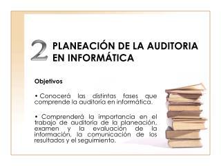 PLANEACIÓN DE LA AUDITORIA EN INFORMÁTICA