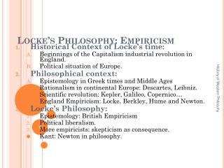 Locke's Philosophy: Empiricism