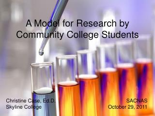 A Model for Research by Community College Students