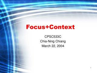 Focus+Context