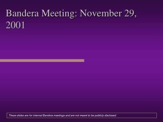 Bandera Meeting: November 29, 2001