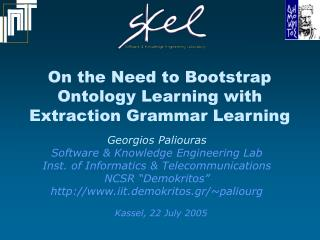 On the Need to Bootstrap  Ontology Learning with  Extraction Grammar Learning