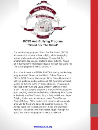 BCSS SFTS Powerpoint