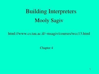 Building Interpreters