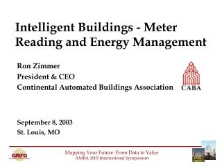 Intelligent Buildings - Meter Reading and Energy Management