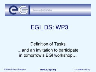 EGI_DS: WP3