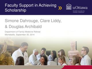 Faculty Support in Achieving Scholarship