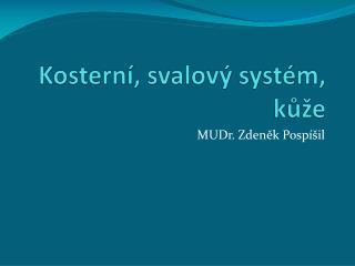 Kosterní, svalový systém, kůže