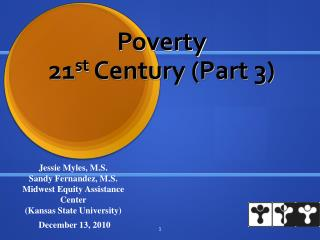 Poverty 21 st Century (Part 3)