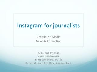 Instagram for journalists