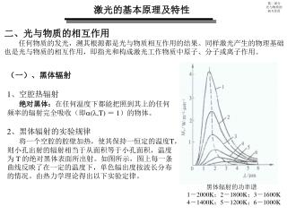 激光的基本原理及特性
