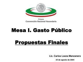 Lic. Carlos Loeza Manzanero 25 de agosto de 2004
