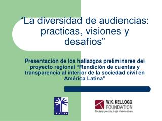 Exponer las opiniones de los diversos sectores sociales consultados: OSC Gobierno