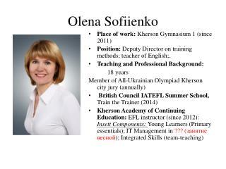 Olena Sofiienko