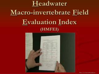 H eadwater M acro-invertebrate F ield E valuation I ndex (HMFEI)