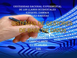Universidad nacional experimental de los llanos occidentales Ezequiel Zamora unellez -barinas