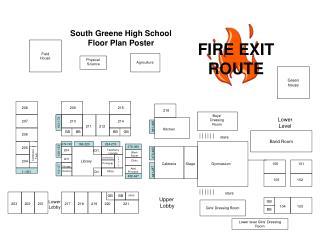 South Greene High School Floor Plan Poster