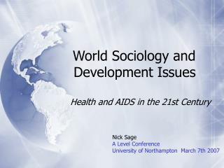 World Sociology and Development Issues