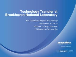 Technology Transfer at Brookhaven National Laboratory