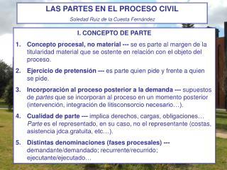 I. CONCEPTO DE PARTE